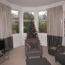 Curtains and carpet for lounge in Edinburgh family home