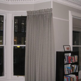 Curtains and Roman Blind for Lounge