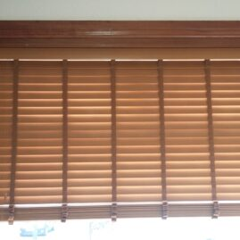 Faux wood Venetian blind