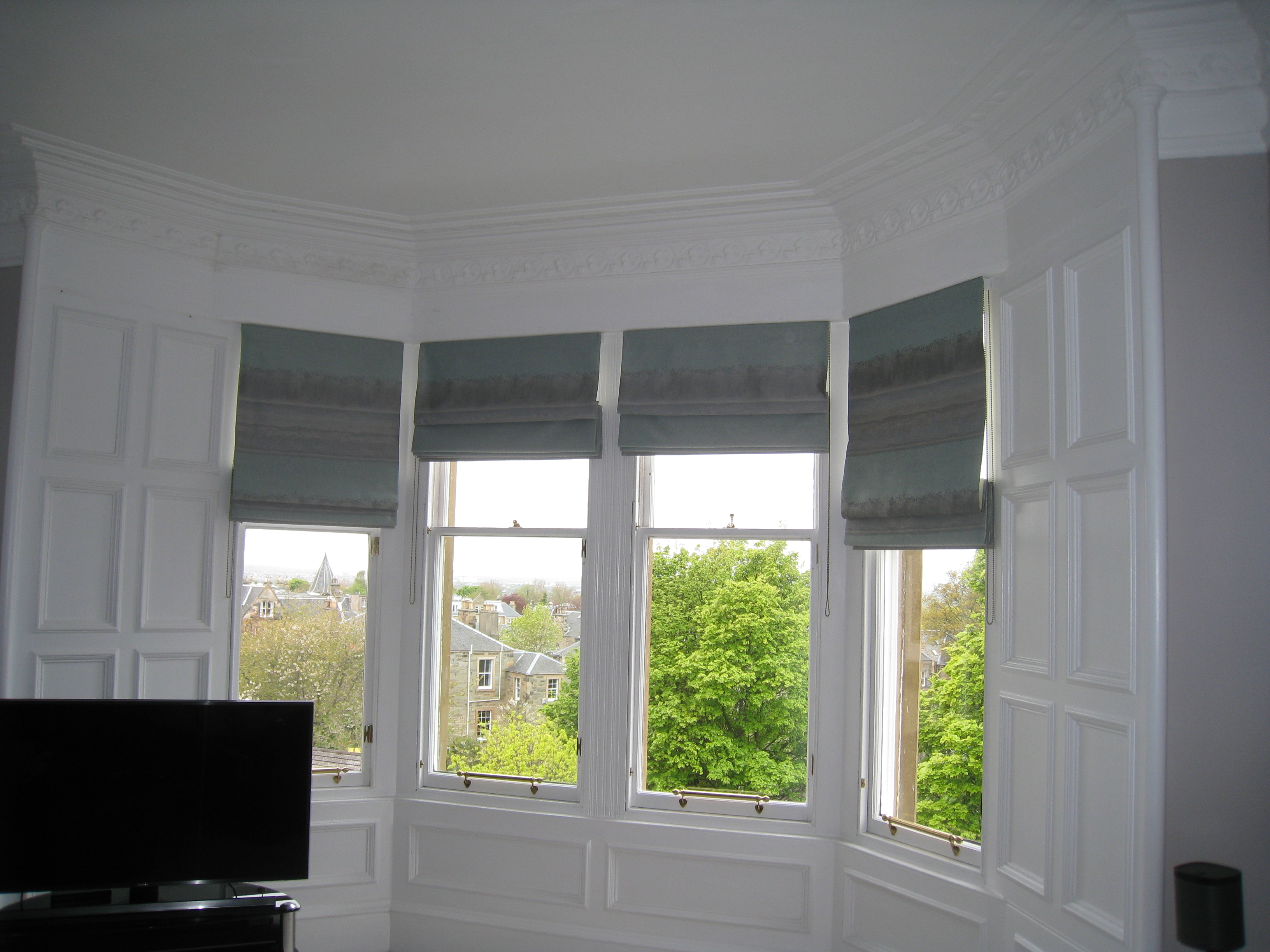 Roman Blinds For Bay Windows Ines Interiors Because It