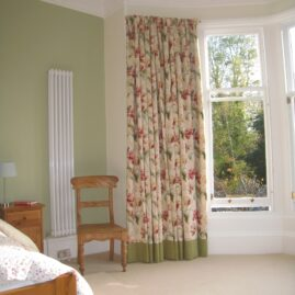 Bottom bordered curtains