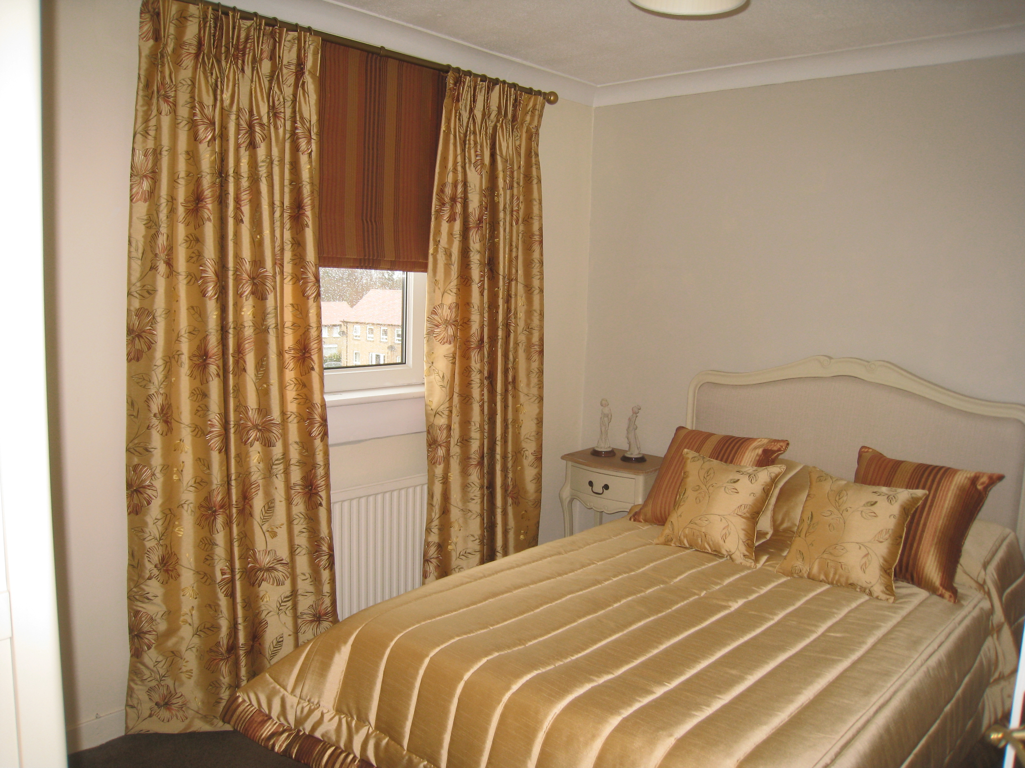 Curtains for two bedrooms with matching bedspreads – Ines ...