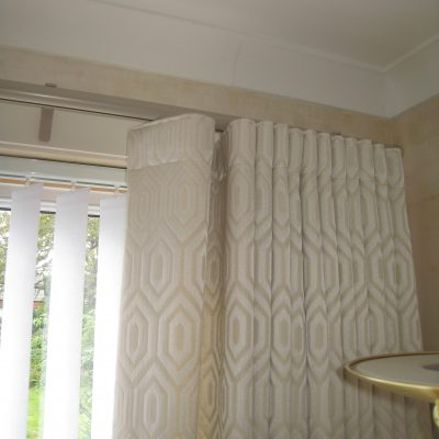 wave curtains, Silent Gliss Metropole rails, Frogston, Edinburgh