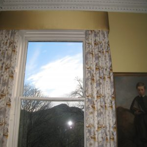 Curtains with pelmet and curtain rails, Regent terrace, Edinburgh