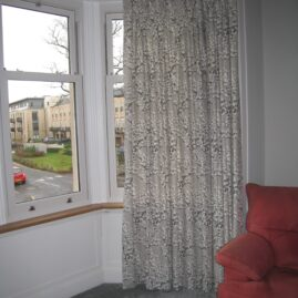 Roman blinds and curtains for a family home in Trinity, Edinburgh