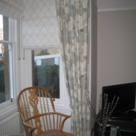 Roman blinds and dressing curtains in Craiglockhart, Edinburgh