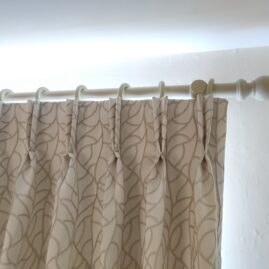 double pinch pleat curtains for a bedroom in Morningside