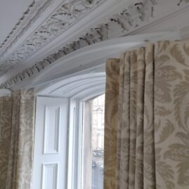 New town drawing room with Metroflat wave rails and curtains
