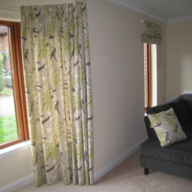 Curtains and roman blind for lounge in Edinburgh