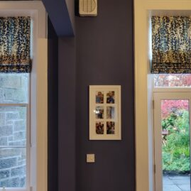 Roman blinds for a dining kitchen